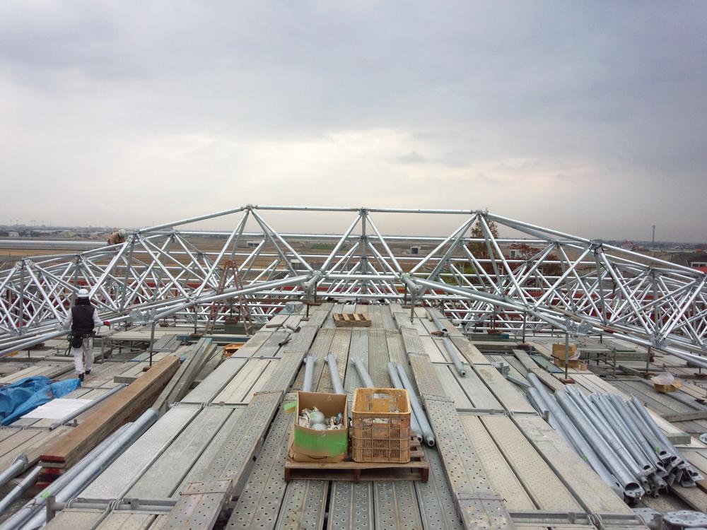多久中央小体育館屋根トラス